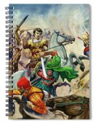 Alexander The Great At The Battle Of Issus  Spiral Notebook