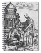 Alexander The Great Kneeling Before The High Priest Of Ammon Spiral Notebook