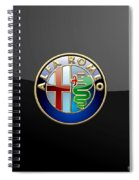 Alfa Romeo - 3 D Badge On Black Spiral Notebook