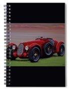 Alfa Romeo 8c 2900a Botticella Spider 1936 Painting Spiral Notebook
