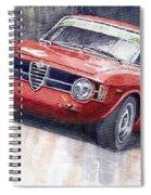 Alfa Romeo Giulie Sprint Gt 1966 Spiral Notebook