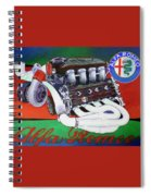 Alfa Romeo Indy Engine Spiral Notebook