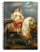 Algerian Hunter With A Falcon Spiral Notebook