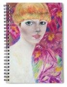 Ali Macgraw In Orange Hat Spiral Notebook