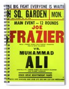 Ali Vs Frazier Boxing Poster Spiral Notebook