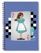 Alice 3d Flying Cards Spiral Notebook