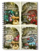 Alice Of Wonderland Series Spiral Notebook