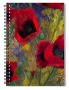 Alicias Poppies Spiral Notebook