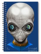 Alien From Space Spiral Notebook