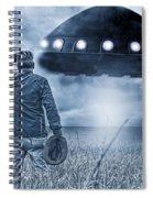 Alien Invasion Cyberpunk Version Spiral Notebook