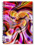 Alien Mind On Fire. Spiral Notebook