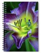 Alien On Flower Spiral Notebook