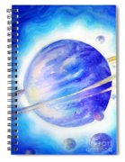 Alien Planet. Blue Light Of Hope Spiral Notebook