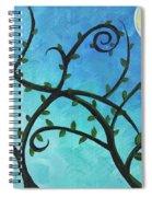 Alien Planet Blue Spiral Notebook