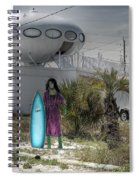Alien Space Ship House Florida Architecture Spiral Notebook