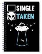 Alien Ufo Single Gift Spiral Notebook