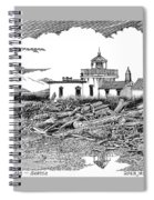 Alki Point Lighthouse Seattle Spiral Notebook