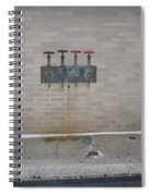All Alone Four Pipes Spiral Notebook