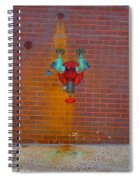 All Alone Red Pipe Spiral Notebook