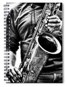 All Blues Man With Jazz On The Side Spiral Notebook