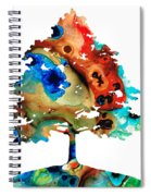 All Seasons Tree 3 - Colorful Landscape Print Spiral Notebook