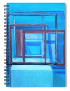 All Square And Blue Spiral Notebook