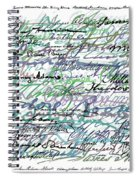 All The Presidents Signatures Teal Blue Spiral Notebook