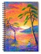 Buddha Meditation, All Things Bright And Beautiful Spiral Notebook