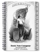 Allegory: Columbia, C1870 Spiral Notebook