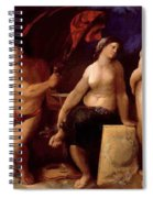 Allegory Of Music 1522 Spiral Notebook