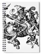 Allegory Of Saturn, 1480 Spiral Notebook