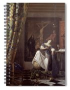 Allegory Of The Faith Spiral Notebook
