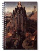 Allegory With A Virgin 1479 80 Hans Memling Spiral Notebook