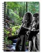 Allen And Steve Jam With Friends On Mt. Spokane Spiral Notebook