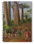 Alley Of The Baobabs Spiral Notebook