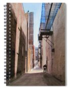 Alley W Guy Reading Spiral Notebook