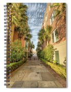 Alleyway In Chaleston Spiral Notebook