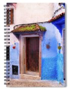 Alleyway In The Blue City Spiral Notebook