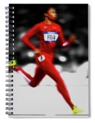 Allyson Felix Ahead Of The Pack Spiral Notebook