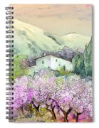 Almond Trees In Altea La Vieja Spiral Notebook