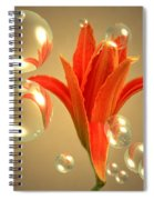 Almost A Blossom In Bubbles Spiral Notebook