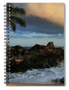 Aloha Naau Sunset Paako Beach Honuaula Makena Maui Hawaii Spiral Notebook