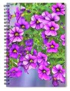 Aloha Purple Sky Calibrachoa Abstract I Spiral Notebook