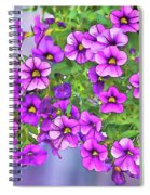 Aloha Purple Sky Calibrachoa Abstract I Spiral Notebook