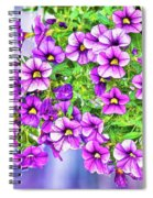 Aloha Purple Sky Calibrachoa Abstract II Spiral Notebook