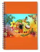 Aloha Tropical Fruits By Kaye Menner Spiral Notebook