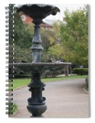 Alone In The Fountain Spiral Notebook