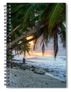 Alone On The Beach 2 Spiral Notebook