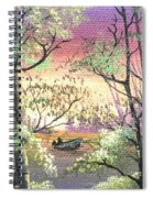 Alone On The Water Spiral Notebook