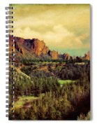 Along The Crooked River Spiral Notebook